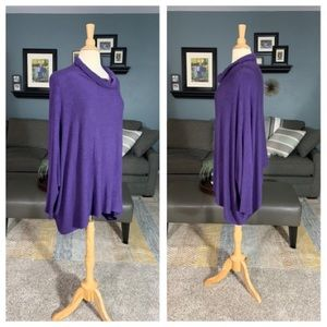 Eileen Fisher Cowl-neck Sleeved Pancho Sweater